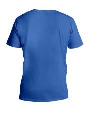 Vote Blue No Matter Who V-Neck T-Shirt back