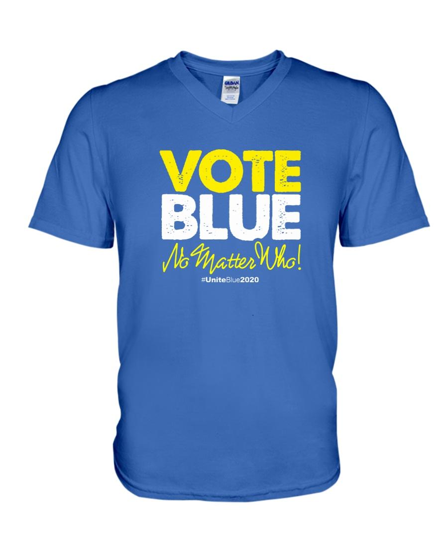 Vote Blue No Matter Who V-Neck T-Shirt