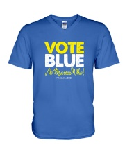 Vote Blue No Matter Who V-Neck T-Shirt tile