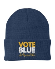 Vote Blue No Matter Who Knit Beanie tile