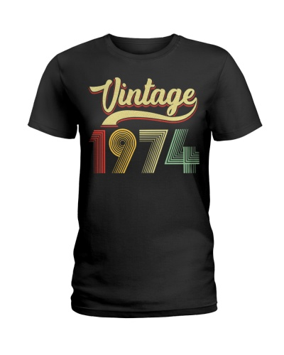 Birthday Shirt Gift Ideas for Women Vintage 1974