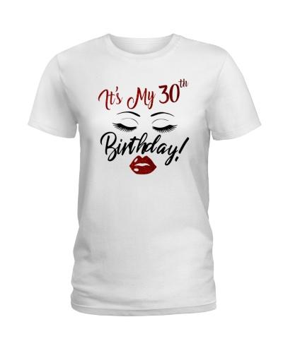 30th Birthday Shirt Gift Ideas for Women Eye Lip