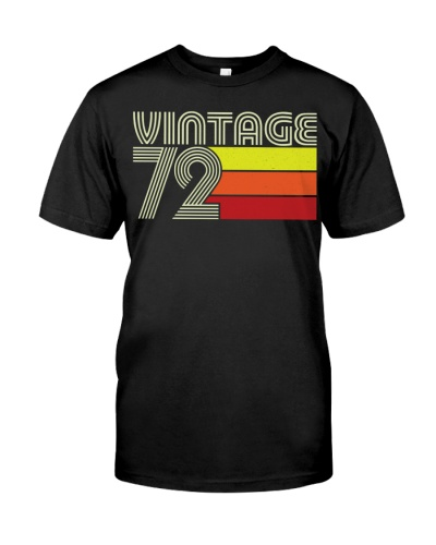 Birthday Shirt Gift Ideas For Men Vintage 1972
