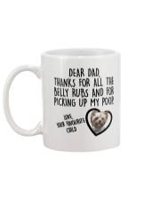Yorkshire Terrier Dad Mug back