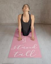Stand Tall Flamingo Yoga Mat 24x70 (vertical) aos-yoga-mat-lifestyle-17