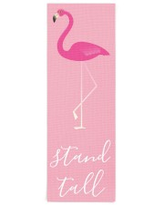 Stand Tall Flamingo Yoga Mat 24x70 (vertical) front