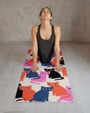 Cute Cats Yoga Mat 2 Yoga Mat 24x70 (vertical) aos-yoga-mat-lifestyle-17
