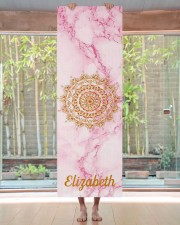 Custom elegant soft pink marble stone gold Yoga Mat 24x70 (vertical) aos-yoga-mat-lifestyle-27