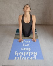 Personalized Beach Happy Place Yoga Mat 24x70 (vertical) aos-yoga-mat-lifestyle-17