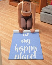 Personalized Beach Happy Place Yoga Mat 24x70 (vertical) aos-yoga-mat-lifestyle-21