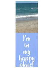 Personalized Beach Happy Place Yoga Mat 24x70 (vertical) front