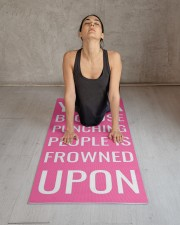 Funny Personalized Pink Exercise Yoga Mat 24x70 (vertical) aos-yoga-mat-lifestyle-17