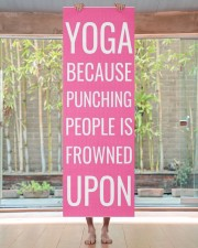 Funny Personalized Pink Exercise Yoga Mat 24x70 (vertical) aos-yoga-mat-lifestyle-27