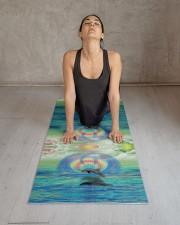 Dolphin Rising Yoga Mat 24x70 (vertical) aos-yoga-mat-lifestyle-17