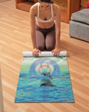 Dolphin Rising Yoga Mat 24x70 (vertical) aos-yoga-mat-lifestyle-21