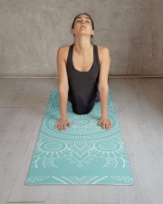 Beautiful Light Blue Mandala Yoga Mat Yoga Mat 24x70 (vertical) aos-yoga-mat-lifestyle-17