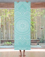 Beautiful Light Blue Mandala Yoga Mat Yoga Mat 24x70 (vertical) aos-yoga-mat-lifestyle-27