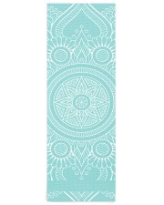 Beautiful Light Blue Mandala Yoga Mat Yoga Mat 24x70 (vertical) front