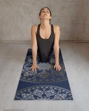 Gold Solar Mandala Yoga Mat Custom Color Yoga Mat 24x70 (vertical) aos-yoga-mat-lifestyle-17