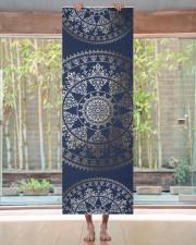 Gold Solar Mandala Yoga Mat Custom Color Yoga Mat 24x70 (vertical) aos-yoga-mat-lifestyle-27