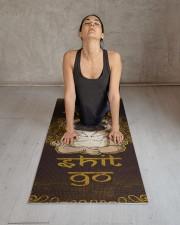 Let that shit go Pug Yoga Mat 24x70 (vertical) aos-yoga-mat-lifestyle-17