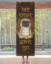 Let that shit go Pug Yoga Mat 24x70 (vertical) aos-yoga-mat-lifestyle-27