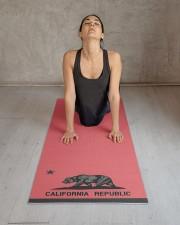 California Republic state flag Yoga Mat 24x70 (vertical) aos-yoga-mat-lifestyle-17
