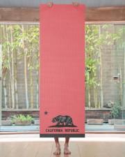 California Republic state flag Yoga Mat 24x70 (vertical) aos-yoga-mat-lifestyle-27