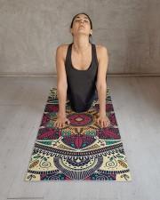 Floral Ethnic Mandala Yoga Mat 24x70 (vertical) aos-yoga-mat-lifestyle-17