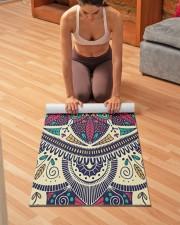 Floral Ethnic Mandala Yoga Mat 24x70 (vertical) aos-yoga-mat-lifestyle-21