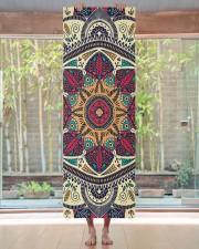 Floral Ethnic Mandala Yoga Mat 24x70 (vertical) aos-yoga-mat-lifestyle-27