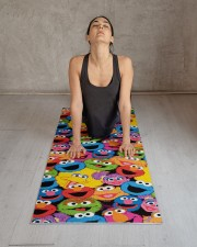 Sesame Street Character Faces Pattern Yoga Mat Yoga Mat 24x70 (vertical) aos-yoga-mat-lifestyle-17