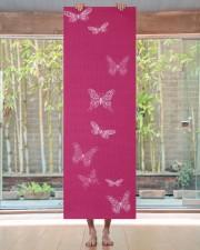 Fluttering Butterflies Bright Pink Yoga Mat 24x70 (vertical) aos-yoga-mat-lifestyle-27