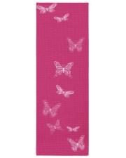 Fluttering Butterflies Bright Pink Yoga Mat 24x70 (vertical) front
