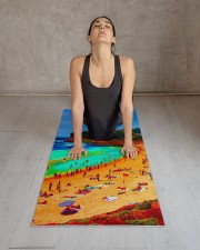 Beach Sea Summer Ocean Life Colorful Personal Yoga Mat 24x70 (vertical) aos-yoga-mat-lifestyle-17