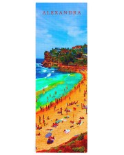 Beach Sea Summer Ocean Life Colorful Personal Yoga Mat 24x70 (vertical) front
