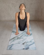 Blue Marble Yoga Mat 24x70 (vertical) aos-yoga-mat-lifestyle-17