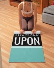 Funny Quote Aqua Blue and Black Yoga Mat Yoga Mat 24x70 (vertical) aos-yoga-mat-lifestyle-21