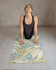 Chic Vintage Blue Iris Yoga Mat 24x70 (vertical) aos-yoga-mat-lifestyle-17