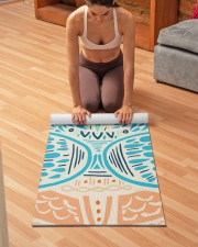 Bohemian Cookie Monster Yoga Mat Yoga Mat 24x70 (vertical) aos-yoga-mat-lifestyle-21