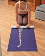 Yoga Instructor Namaste Yoga Mat 24x70 (vertical) aos-yoga-mat-lifestyle-21