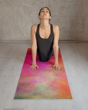 Colorful Clouds Abstract Yoga Mat Yoga Mat 24x70 (vertical) aos-yoga-mat-lifestyle-17