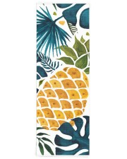 Tropical palm leaves golden pineapple Yoga Mat 24x70 (vertical) front