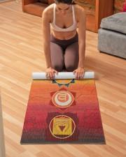 Chakra Hemp Yoga Mat 10 Yoga Mat 24x70 (vertical) aos-yoga-mat-lifestyle-21