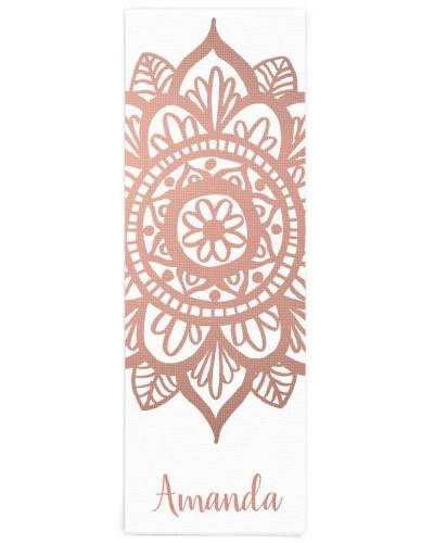 Custom Name New Rose Gold Mandala White