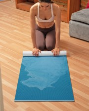 Polar Bear On Iceberg Yoga Mat 24x70 (vertical) aos-yoga-mat-lifestyle-21