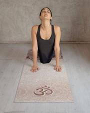 Chic Rose Gold Mandala Om Personal Yoga Mat Yoga Mat 24x70 (vertical) aos-yoga-mat-lifestyle-17