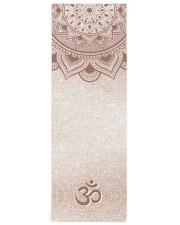 Chic Rose Gold Mandala Om Personal Yoga Mat Yoga Mat 24x70 (vertical) front