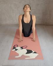 Monogram Cute French Bulldog Yoga Mat 24x70 (vertical) aos-yoga-mat-lifestyle-17