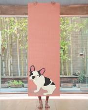 Monogram Cute French Bulldog Yoga Mat 24x70 (vertical) aos-yoga-mat-lifestyle-27